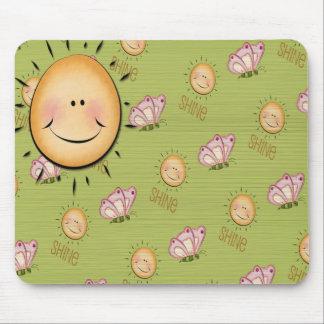Spring Sunshine Smile & Butterflies Fun Mousepad