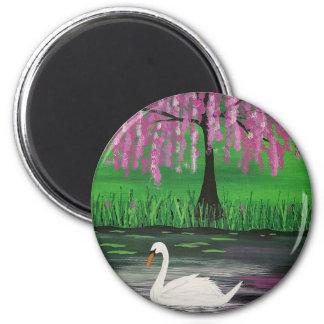 Spring Swan Magnet