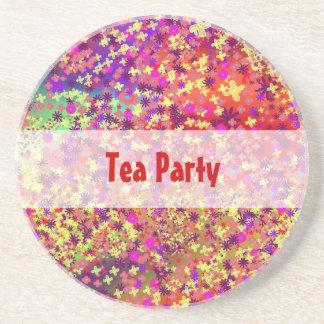 Spring Tea Party Drink Coasters