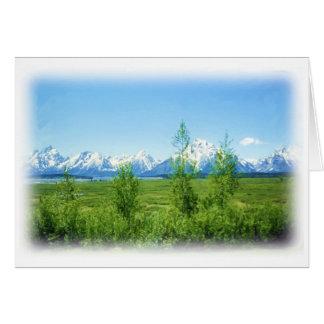 Spring Tetons card
