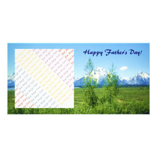 Spring Tetons Father's Day Photo Card Template