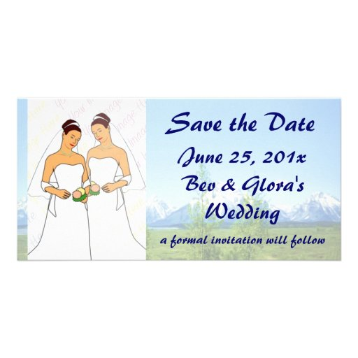 Spring Tetons WEDDING Save The Date Photo Card