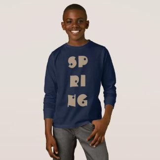 Spring Text Funny Typography Season Navy Blue T-Shirt