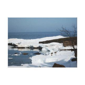 Spring Thaw Lake Superior Canvas Print