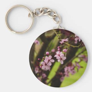 Spring Time Basic Round Button Key Ring
