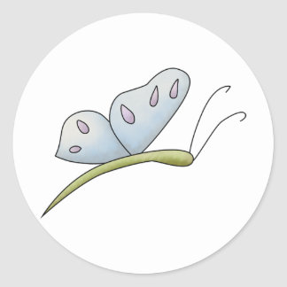 Spring Time · Blue Butterfly Classic Round Sticker