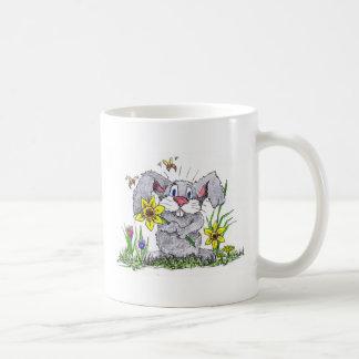 Spring time bunny basic white mug