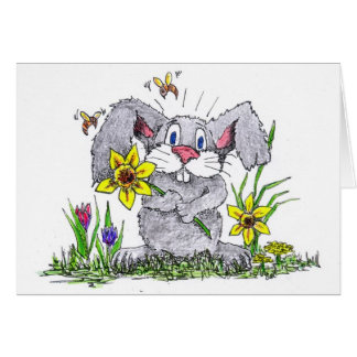 Spring time bunny greeting card