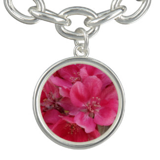 Spring Time Charm Bracelet, Silver Plated