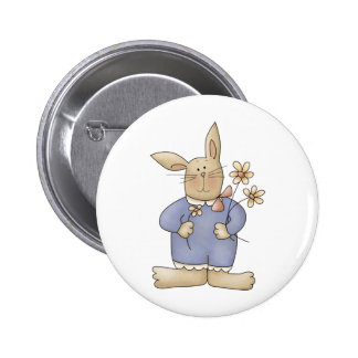 Spring Time · Easter Bunny with Flowers Pins