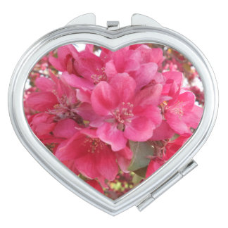 Spring Time Flower Heart Compact Mirror