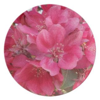 Spring Time Flower Melamine Plate