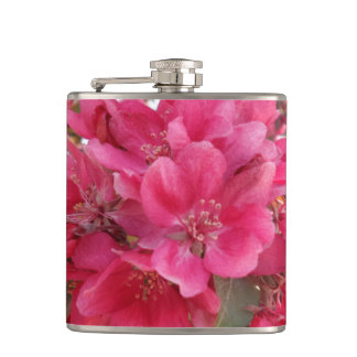 Spring Time Flower Vinyl Wrapped Flask
