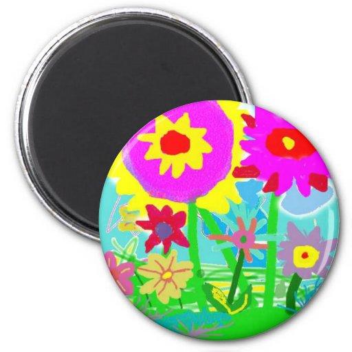 Spring  Time Flowers Fridge Magnet