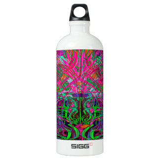 Spring time flowers in Orange, Hot Pink Lime Green SIGG Traveller 1.0L Water Bottle