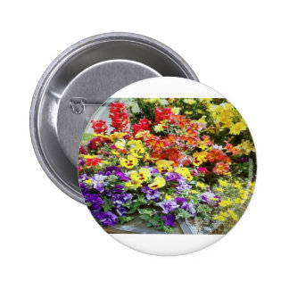 Spring Time Flowers Pinback Buttons