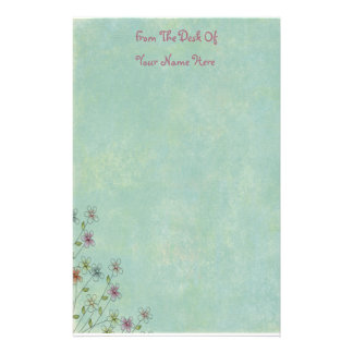 Spring Time Flowers Stationery
