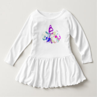 spring time flowers with butterfly in pop colors tee shirt