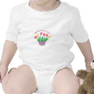 SPRING TIME FOR FLOWERS BABY BODYSUITS