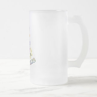 SPRING TIME FROSTED GLASS MUG