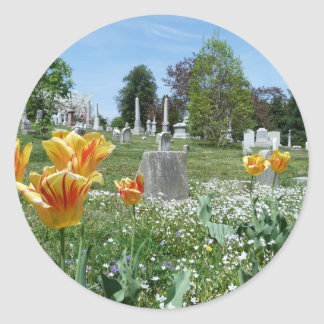 Spring time in Cave Hill Cemetery Classic Round Sticker