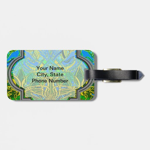 Spring time in the flower garden luggage tag