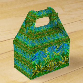 Spring time in the flower garden party favour boxes