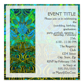 Spring time in the flower garden pattern 13 cm x 13 cm square invitation card