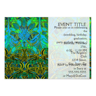 Spring time in the flower garden pattern 13 cm x 18 cm invitation card
