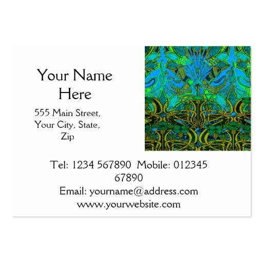 Spring time in the flower garden pattern business card template