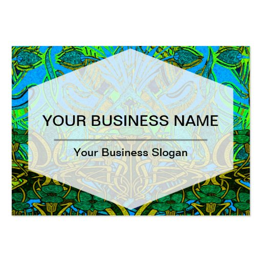 Spring time in the flower garden pattern business card