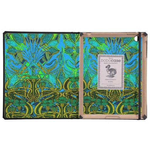 Spring time in the flower garden pattern cases for iPad