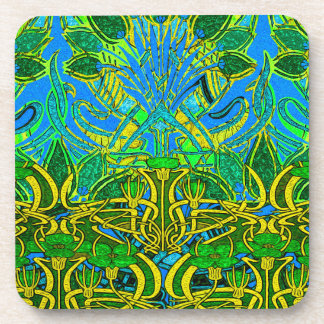 Spring time in the flower garden pattern coasters