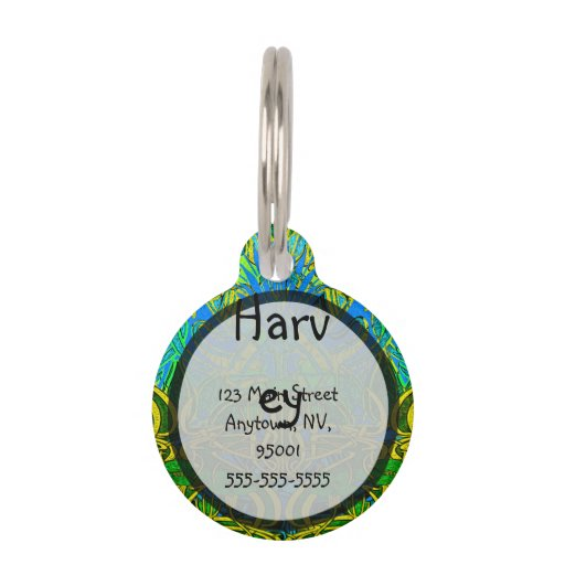 Spring time in the flower garden pattern pet ID tags