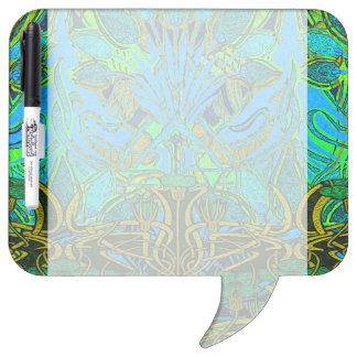 Spring time in the flower garden pattern Dry-Erase board
