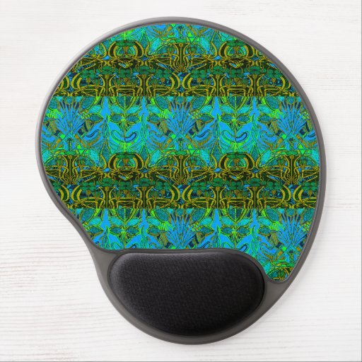 Spring time in the flower garden pattern gel mouse mat