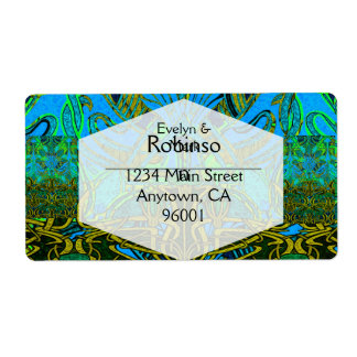 Spring time in the flower garden pattern shipping label