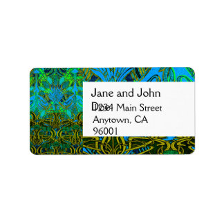 Spring time in the flower garden pattern address label
