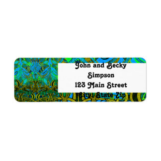 Spring time in the flower garden pattern return address label