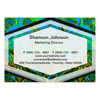 Spring time in the flower garden pattern pack of chubby business cards