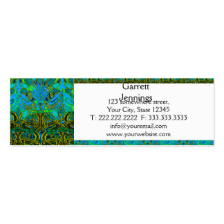 Spring time in the flower garden pattern pack of skinny business cards