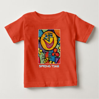 Spring Time - Orange  -Time Pieces Baby T-Shirt