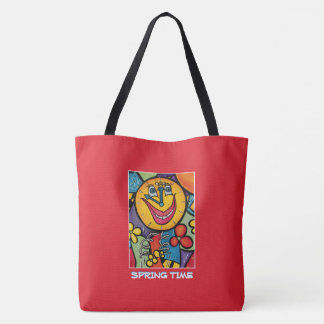 Spring Time - Red - Time Pieces Tote Bag