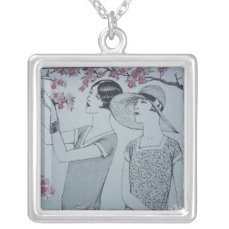 Spring Time Square Pendant Necklace