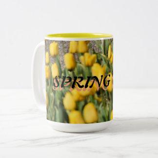Spring Time Two-Tone Coffee Mug