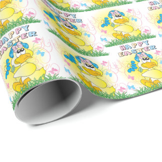 Spring Time Yellow Ducky Wrapping Paper