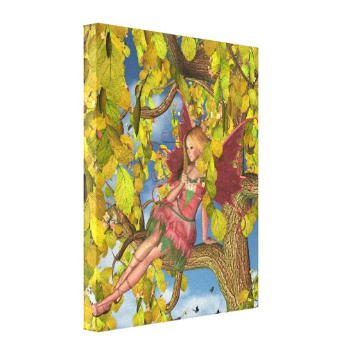 Spring Tree Blossom Fairy Stretched Canvas Prints