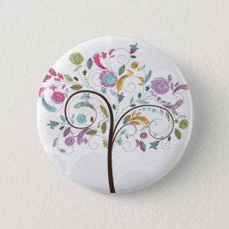 Spring Trees 6 Cm Round Badge