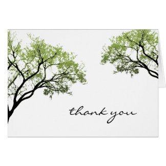 Spring Trees Thank You Card