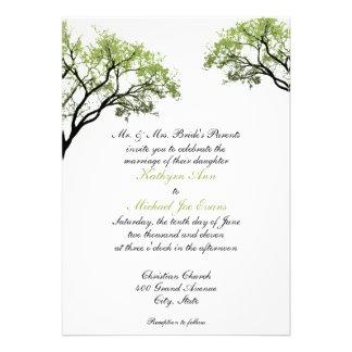 Spring Trees Wedding Invitation